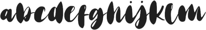 Matte Brush ttf (400) Font LOWERCASE