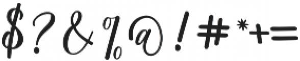 Matterhon Upright otf (400) Font OTHER CHARS