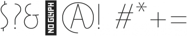 Maxi-Plus Thin otf (100) Font OTHER CHARS
