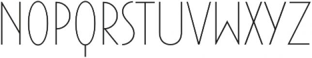 Maxi-Plus Thin otf (100) Font LOWERCASE