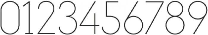Maxi Thin otf (100) Font OTHER CHARS