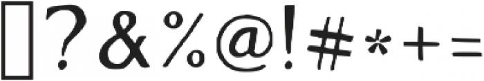 Maxon Avenue Regular otf (400) Font OTHER CHARS