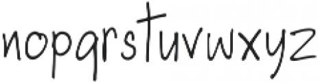 Maxwell Regular otf (400) Font LOWERCASE