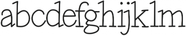 Maxwell otf (400) Font LOWERCASE
