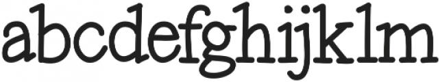 Maxwell otf (700) Font LOWERCASE