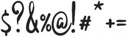 Maya Script Bold otf (700) Font OTHER CHARS