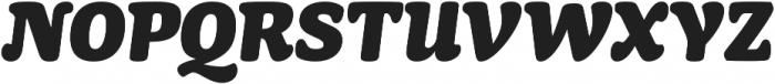 Mayonez Black Italic otf (900) Font UPPERCASE