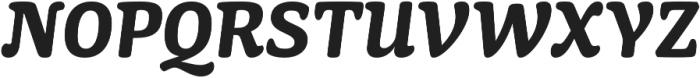 Mayonez Bold Italic otf (700) Font UPPERCASE
