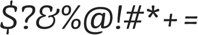 Mayonez Light Italic otf (300) Font OTHER CHARS