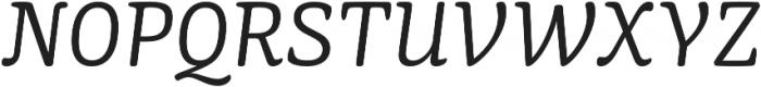 Mayonez Light Italic otf (300) Font UPPERCASE