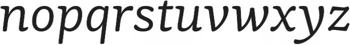 Mayonez Light Italic otf (300) Font LOWERCASE