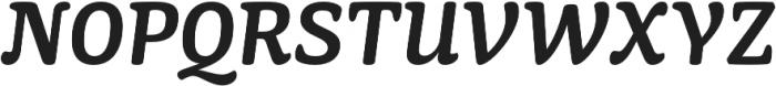 Mayonez SemiBold Italic otf (600) Font UPPERCASE
