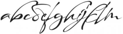 maestro signature otf (400) Font LOWERCASE