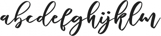 marlita otf (400) Font LOWERCASE