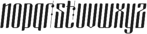 masquerouge italic otf (400) Font LOWERCASE