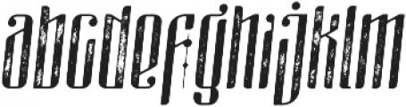 masquerouge rough italic otf (400) Font LOWERCASE