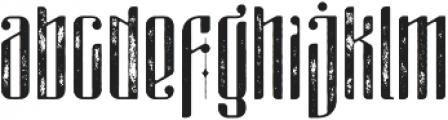 masquerouge rough otf (400) Font LOWERCASE