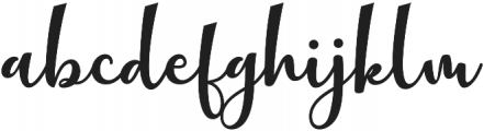 mathilda Regular ttf (400) Font LOWERCASE