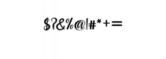 Maisha Script Font OTHER CHARS