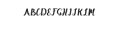 Maisha Script Font UPPERCASE