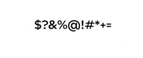 Maleo Sans Bold.otf Font OTHER CHARS