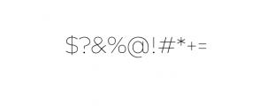 Maleo Sans Thin.otf Font OTHER CHARS