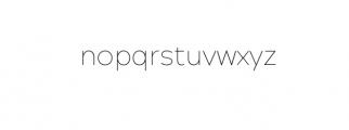 Maleo Sans Thin.otf Font LOWERCASE
