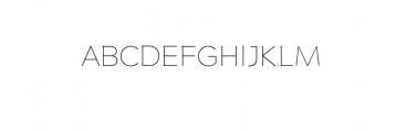 Maleo Thin.otf Font UPPERCASE