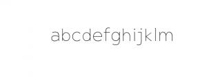 Maleo Thin.otf Font LOWERCASE