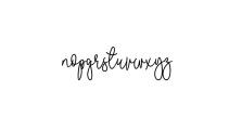 Malibbie Font LOWERCASE