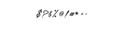 Manallagi Font OTHER CHARS