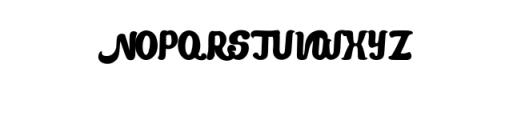 Mandarin-Bold.otf Font UPPERCASE