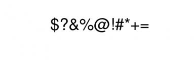 Manhattan Font OTHER CHARS