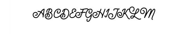 Maretha Script.otf Font UPPERCASE