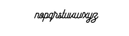 Maretha Script.otf Font LOWERCASE