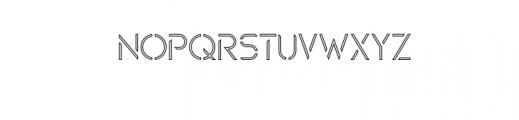 Maxellight-Condensed-Outline.otf Font UPPERCASE