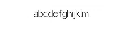Maxellight-Light-Condensed.otf Font LOWERCASE