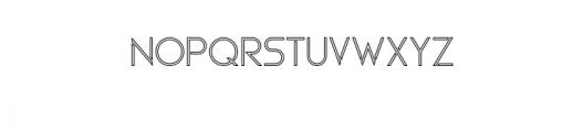 Maxellight-Outline.otf Font UPPERCASE