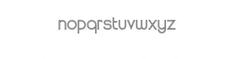 Maxellight-Outline.otf Font LOWERCASE