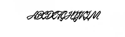 manhattan brush.ttf Font UPPERCASE