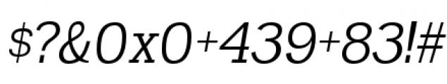 Madawaska Book Short Caps Italic Font OTHER CHARS