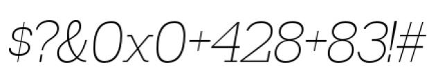 Madawaska Extra Light Italic Font OTHER CHARS