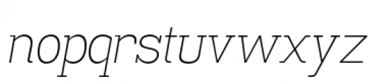 Madawaska Extra Light Italic Font LOWERCASE