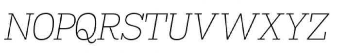 Madawaska Extra Light Short Caps Italic Font UPPERCASE