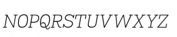 Madawaska Extra Light Short Caps Italic Font LOWERCASE