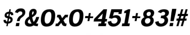 Madawaska Heavy Italic Font OTHER CHARS