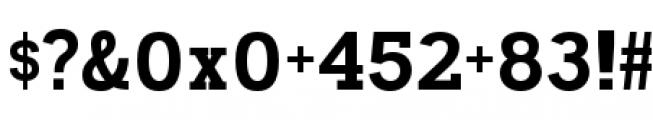Madawaska Heavy Short Caps Font OTHER CHARS