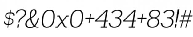 Madawaska Light Italic Font OTHER CHARS