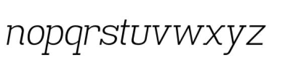 Madawaska Light Italic Font LOWERCASE