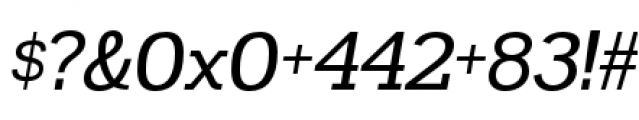 Madawaska Regular Italic Font OTHER CHARS